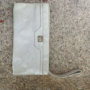 Ivory coloured clutch purse